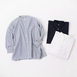 SETTO|ファーム シャツ FARMS SHIRT ワイドシルエット スタンドカラー バンドカラー シャツ 無地 STL-SH005 セット