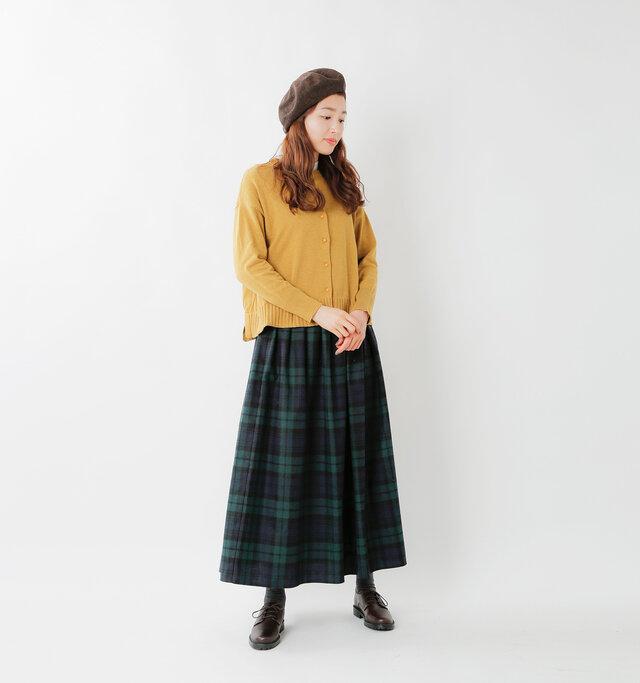 model mizuki:168cm / 50kg color : mustard / size : F