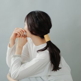 "SYKIA|真鍮×カウレザーへアピアス""Leather Hair pierce M"" 02-201-h03-rf"