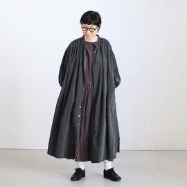 UNIVERSAL TISSU|クラシック ギャザーシャツドレス