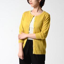mao made UVカットリネンクルーネック長袖カーディガン 011101 マオメイド