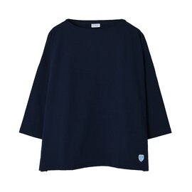 ORCIVAL|ミディアムコットンワイドシルエットドロップショルダーカットソー 7分袖Tシャツ ボーダー トップス B439 オーシバル オーチバル