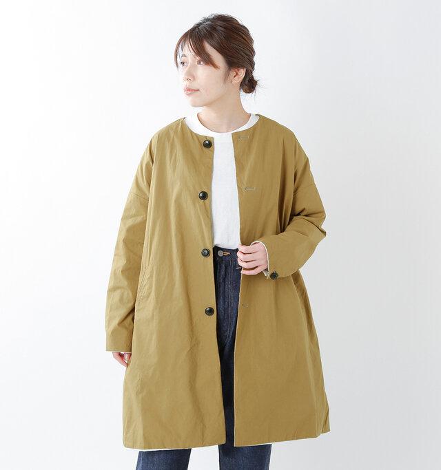 model hikari:165cm / 48kg color : walnut / size : 1(S)