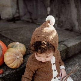 Petit Kolibri|ベビーアルパカ ボンネット[出産祝い/ハーフバースデーギフト]