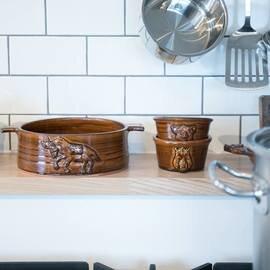野村亜土|ロバのグラタン皿