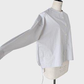 nicholson and nicholson コットンタイプライターノーカラーバックギャザーシャツ mary-poplin-tr【21ss】