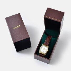 "VIDA+ レザーベルトアメリカンクラシックモデル腕時計""Inherit"" j84964g-mt"