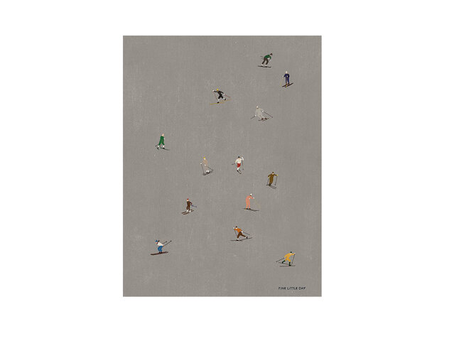 FineLittleDay|ポスター SKIERS 50×70cm