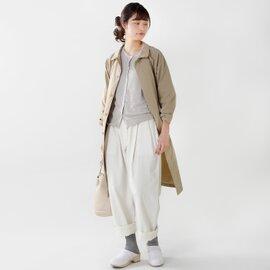 mao made UV加工クルーネックリネンカーディガン 711101-tr