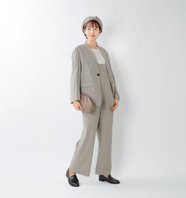 model mizuki:168cm / 50kg  color : oatmeal / size : 36