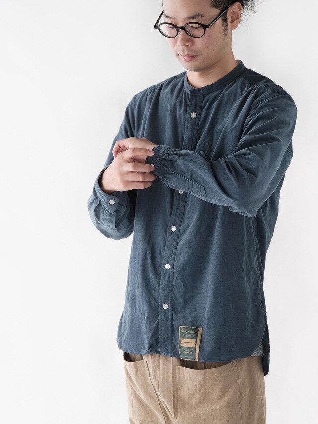 ボタンを留めても、ボタンを外してアウターとして使っても。 若菜 身長176cm Lサイズ着用