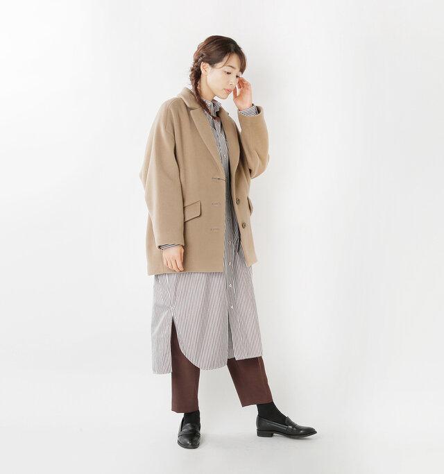 model mizuki:168cm / 50kg  color : taupe / size : F