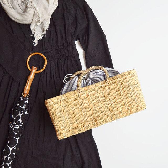 かごバッグとして。インナーバッグを一緒に使うと、より使いやすく、かわいくなります。