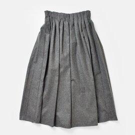 O'NEIL OF DUBLIN|aranciato別注 ウールブレンドタックチェックロングスカート s26582-rf