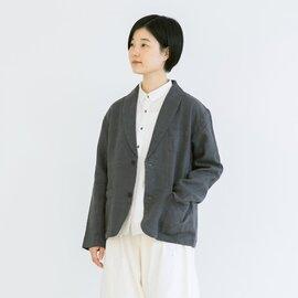 TUTIE.|リネンキャンバス起毛ショールカラージャケット