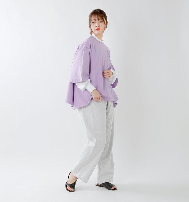 model kanae:167cm / 48kg color : purple / size : F