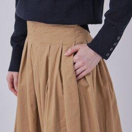 GRANDMA MAMA DAUGHTER|チノプリーツロングスカート【定番カラー】
