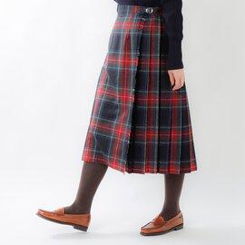 O'NEIL OF DUBLIN|aranciato別注 ウールプリーツ巻きスカート 5073wp-fn