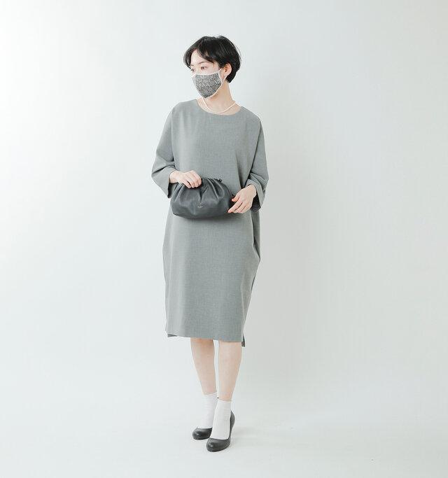 model saku:163cm / 43kg  color : RachelGray / size : one