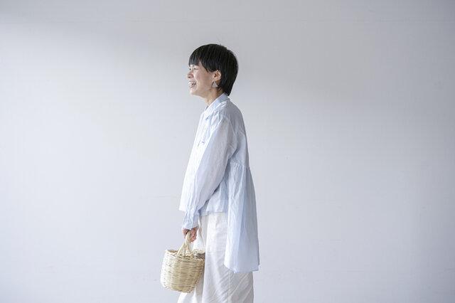 mizuiroind|フロントショートバックロングシャツ