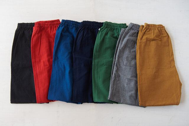 薄地 無地  左から、ブラック、レッド、ブルー、ネイビー、グリーン、グレー、ベージュ