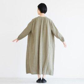 TUTIE.|リネン起毛ムジギャザーワンピース