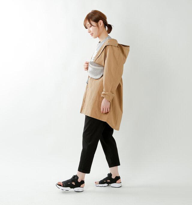 model yama:167cm / 49kg color : black / size : 24.0cm