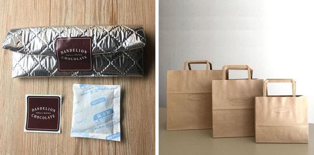 ・気温の高い季節(目安25度以上)にお持ち歩きになる場合は保冷バッグと保冷材もご用意しております(無料)。 ・ご希望の場合はご注文の際、備考欄にご記入ください。 ・封をするためのダンデライオンオリジナルのシールもおつけしています。 ・保冷剤は冷凍してからご利用ください。 ・紙袋もご用意しておりますのでご希望の場合はご注文の際、備考欄に必要枚数をご記入ください(無料)。