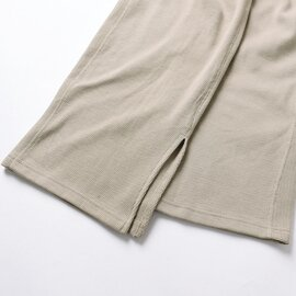kha:ki|コットン ハニカムサーマル スリットワイドパンツ THERMAL SLIT PANTS イージーパンツ ボトムス MIL-20HPT115 カーキ