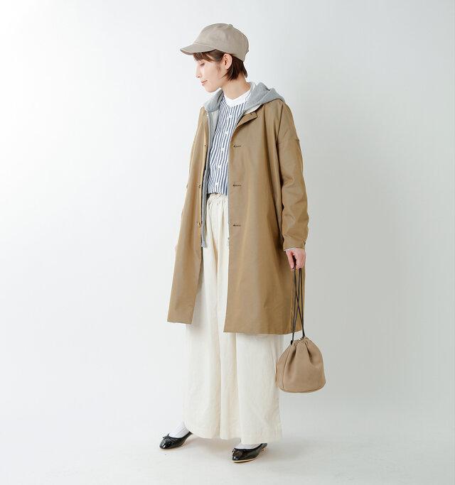 model yama:167cm / 49kg color : beige / size : 1(S)