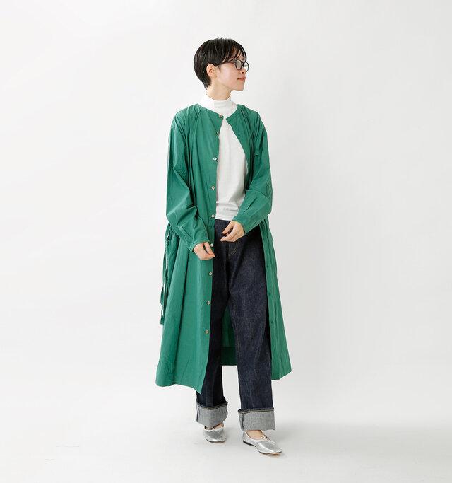 model saku:163cm / 43kg  color : green / size : F