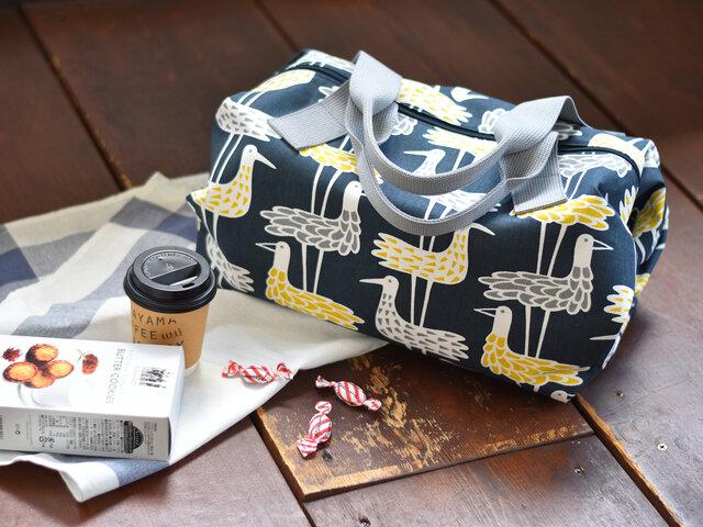 型紙を使って、ファスナー付きのドラム型バッグを作ってみませんか?