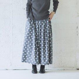 Cion|コットンレーヨンドットスカート・19-10202